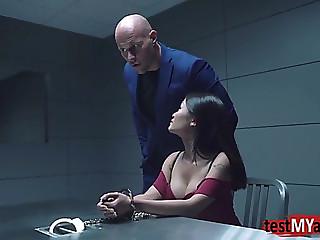 Oriental pornstar anal and facial
