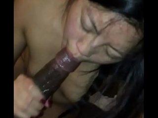 Asian amateur sucks black cock, interracial BBC