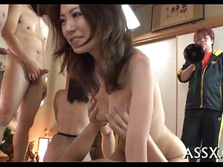 Enthralling asian group sex