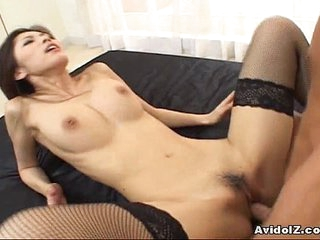 Hottest Asian Ricko Tachibana hammered by cock!
