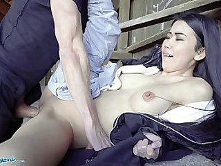 Public Agent Hot Asian Babe gives blowjob in Real Public Sex Video