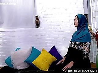 The Caliph fucks this cute Asian slut face as she kneels down