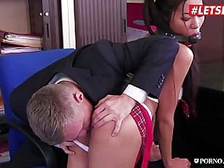 LETSDOEIT - Big Ass Asian Teen Poopea Pons Gets Ass Fucked By School Principal For Cheating The Exam
