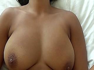 Asian babe takes white cock