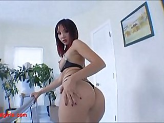 asian ruined asshole from giant black cock