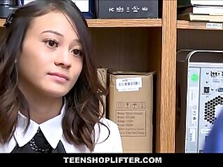 Young And Petite Asian Shoplifter Jasmine Grey Sex With Mall Security For No Cops