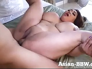 Fat Asian MILF with Enormous Tits Fucked - BBW-Asian.com