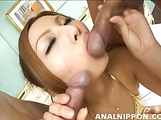 Stunning Japanese hottie Shiho Kano takes a hard banging from behind