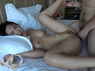 Shagging an Asian beauty with a great body