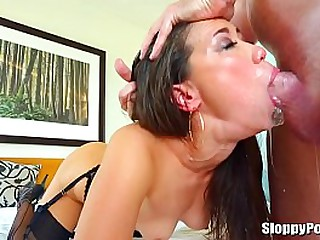 Asian slut sucks