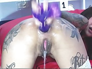 Gushing Asian solo assplay