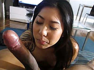 Asian Hottie Sucks Good Dick