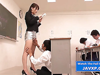 Fucking the bitch teacher,threatening oriental japanese jav