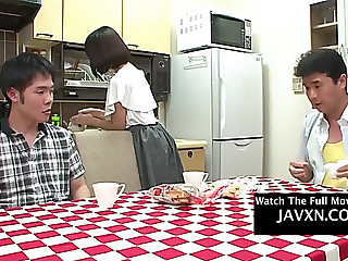 Weird oriental porn.fearsome legal age teenager receives screwed during lunch